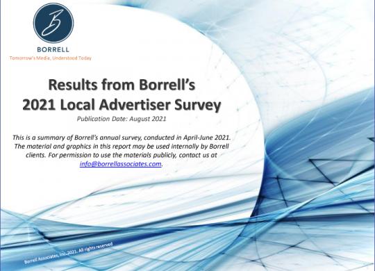 Borrell_2021 Local Advertiser Survey Summary1